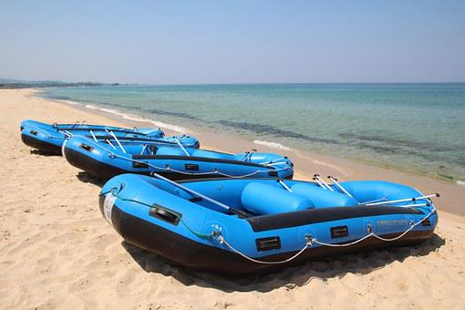 Rubber Boats, Boat, Times, Sea, Beach, Water Activities