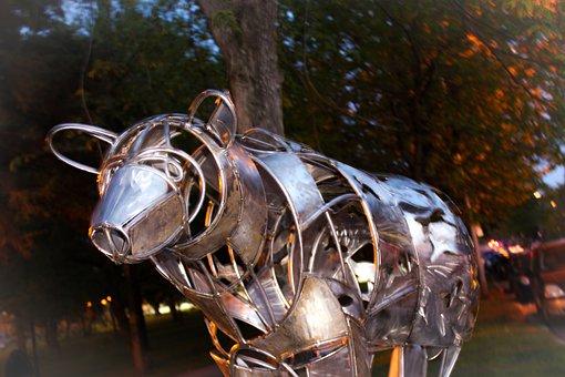 Art, Scultpture, Wrought Iron, Shawinigan, Québec