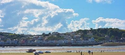 Beach, Sand, Devon, Appledore, Holiday, Sky, Sea, Water