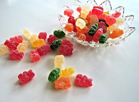 Soft Candy Bears, Sour, Sweet, Food, Colorful