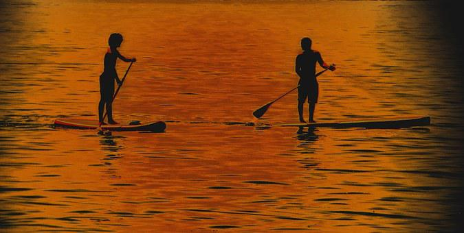 Padeln, Surf, Water, Swim, Contrast Images, Shadow