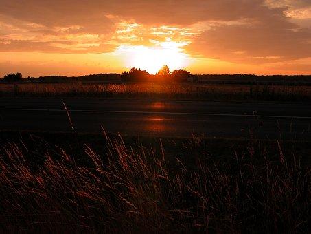 Edemissen, Sun, Weather, Clouds, Sky, Agriculture