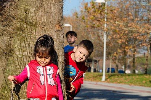 Children, Children Playing, Girl, Male, Child, Boy