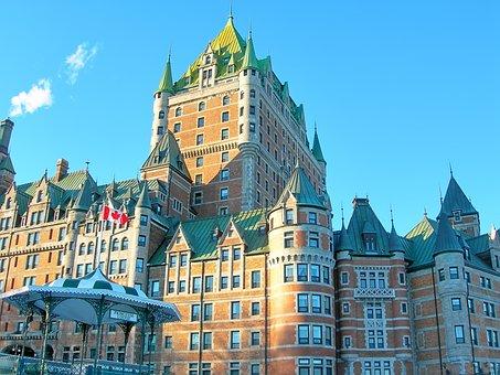 Québec, Castle, Frontenac, River, Old Quebec, City