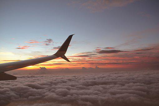 Sky, Plane, Fly, Clouds, Dawn, Aircraft, Flying, Air