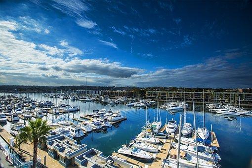 Marina, Marina Del Rey, Boats, Water, Clouds, Sky