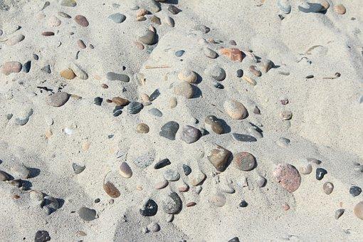 Stone, Sand, Stones, Beach, Sjösten, Coastal, Round
