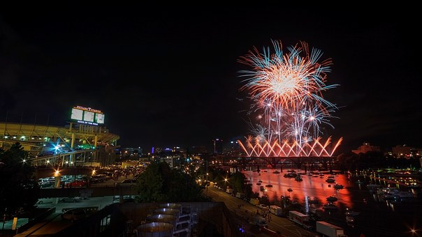 Fireworks, Knoxville, Boomsday, Celebration, Orange