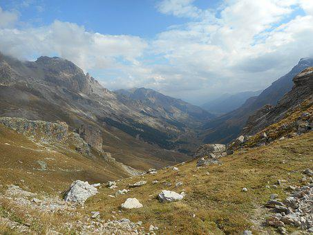 France, Alps, Cycling, Galibier, Landscape, Mountains