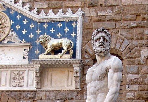 Statue, Hercules, Italy, Florence, Renaissance, Artwork