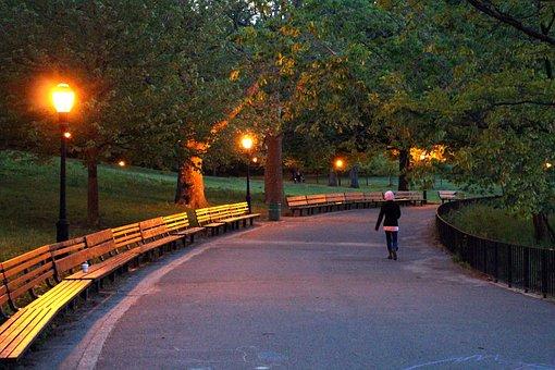 Park, Inwood Hill, Night, Walking, Alone, Manhattan