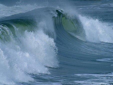 Water Roller, Roll, Big Wave, Large, Force, Sea, Ocean