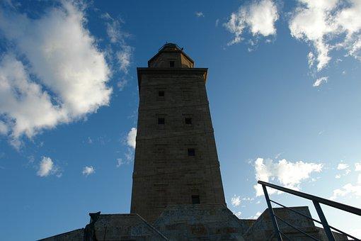 Lighthouse, Tower, Hercules, Galicia