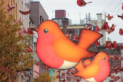Birds, London, Soho, Uk, England, City, Landmark