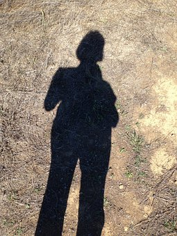 Shadow, Self-portrait, Mid-day Hike, Person