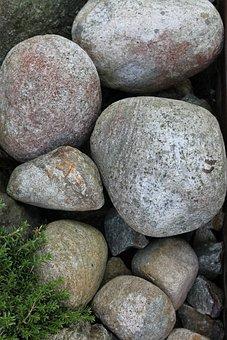 Round Stone, Rock, Stone, Round, Gray, Green