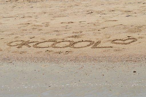 Sand, Text, Beach, Holiday, Vacation, Summer, Sea, Sun