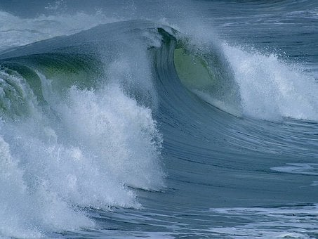 Water Roller, Roll, Big Wave, Large, Force, Sea, Ocean