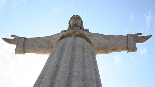 Lisbon, Cristus, Statue, Monument, Cristo Rei, Landmark