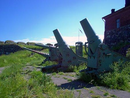 Old, Coastal Guns, Guns, Summer Sunshine, Suomenlinna