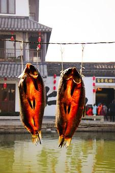 Dried Fish, Anchang, The Ancient Town, Rope