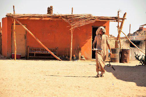 Desert, Bedouin, Village, Sand, Heat, Sun, Glowing