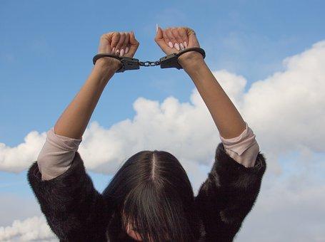 Shackles, Conclusion, Arrested Woman, Confinement