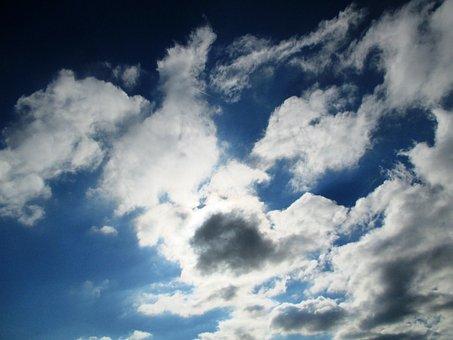 Nature, Sky, Clouds, Dark Cloud, Sun Covers, Mood, Blue