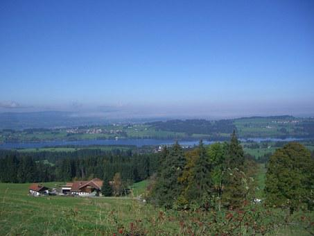 Rottachsee, Lake, Outlook, Binzen, Ellegghoehe, Allgäu