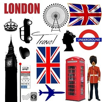 London, Icons, Collage, Phone Booth, England, Uk
