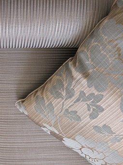 Pillow, Rihe, Fabric, Flowers