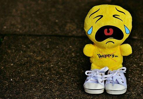 Smiley, Cry, Sad, Sneakers, Funny, Emoticon, Emotion