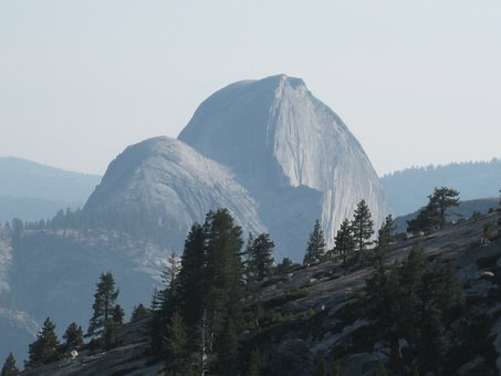Halfdome, Olmstead Point, Yosemite, California