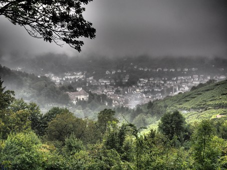 Landscape, Nature, Hdr, Foggy, Weird, Hasenberg