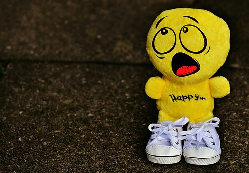 Smiley, Horrified, Amazed, Sneakers, Funny, Emoticon