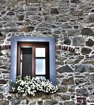 Window, Flowery Window, House, Architecture, Old Façade