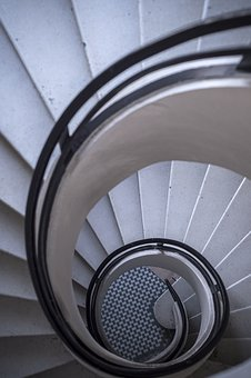 Stairs, Spiral, Architecture, Staircase, Interior