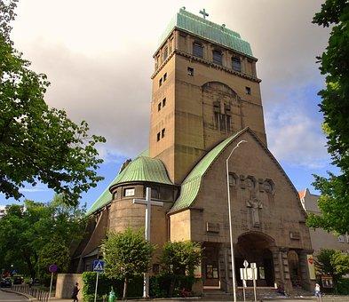 Poland, Stettin, Herz-jesu-kirche