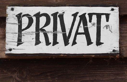 Note, Shield, Private, Privacy, Taboo District, Area