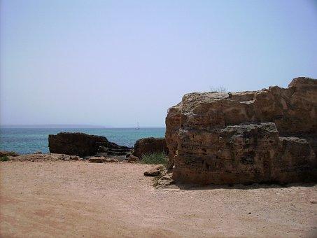 Mallorca, Sea, Rock, Sailing Vessel, Sand, Beach, Coast