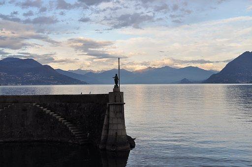 Lago Maggiore, Lake, Stresa, Landscape, Meditation