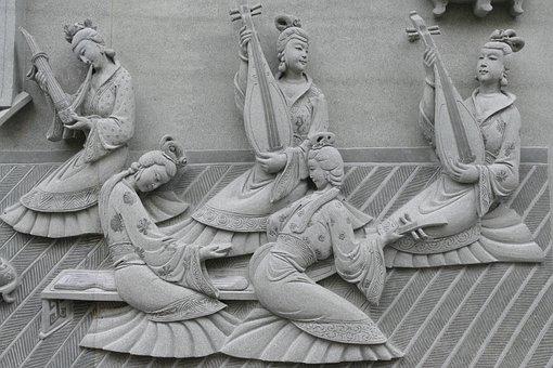 Temple, Buddhism, Taoism, Taiwan, China, Gods, Fig