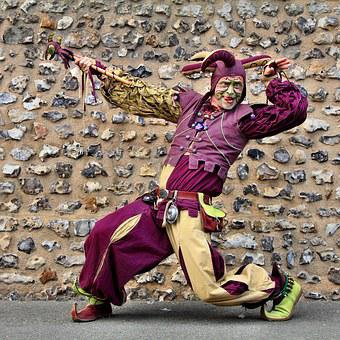 Costume, Middle Ages, Minstrel, Troubadour, Violet