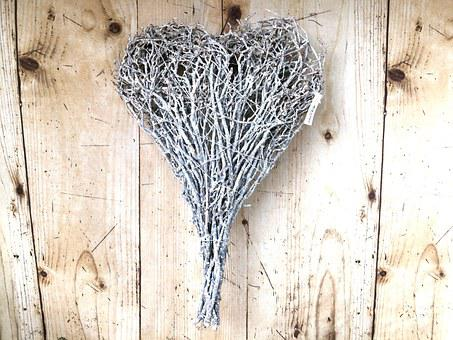 Heart, October, Country House, Straw, Wood