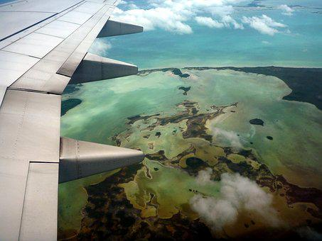 Plane, Coral, Reef, Travel, Areal
