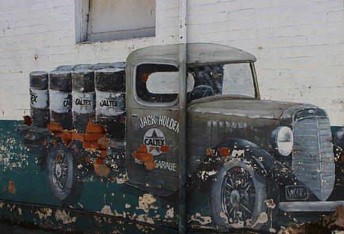 Truck, Wall Art, Beechworth, Vintage, Holden, Caltex