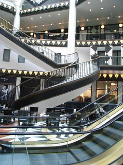 Shopping Arcade, Berlin, Stairs, Department Store