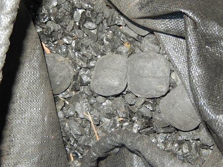Coal, Black, Bag Of Coal