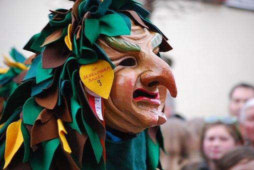 Carnival, Shrovetide, Germany, Mask, Parade, Witch