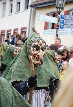 Germany, Carnival, Shrovetide, Parade, Mask, Witch